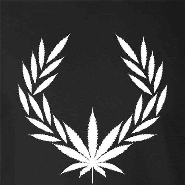 Marijuana Pot Leaf Laurel 420