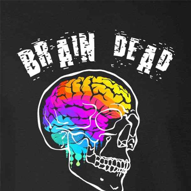Brain Dead Skull Trippy Art