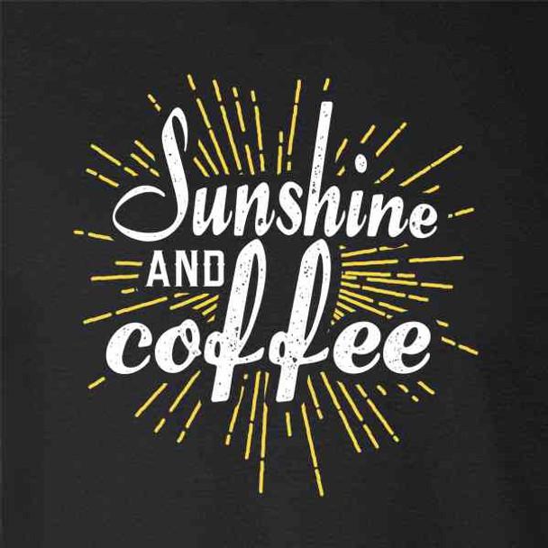 Sunshine And Coffee Retro Funny Cute