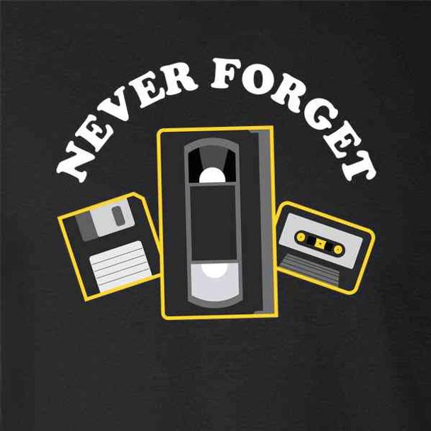 Never Forget Floppy Disk VHS Cassette Tape Funny