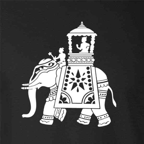 Elephant Riders Silhouette Indian Art
