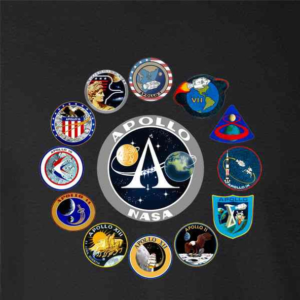 NASA Approved Apollo Mission Patches Retro Vintage
