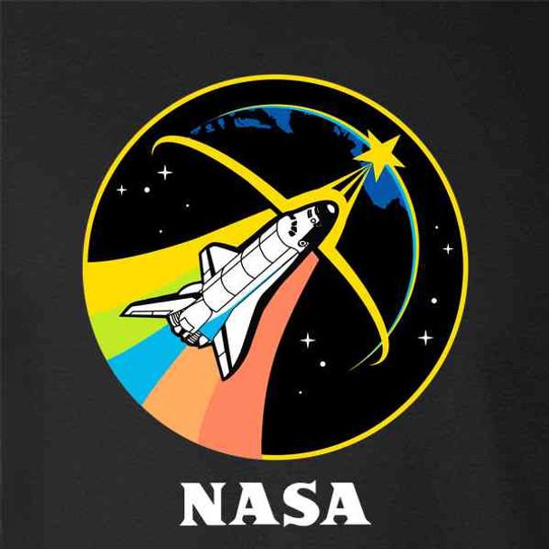 NASA Approved Rainbow Shuttle Shirt Retro 80s