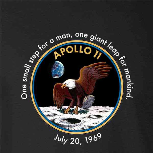 NASA Approved Apollo 11 One Small Step Moon Quote