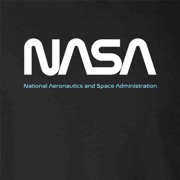 NASA Approved Worm Logo Vintage Retro Graphic 80s
