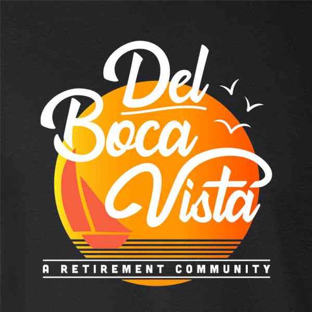 Del Boca Vista Retirement Community 90s Graphic