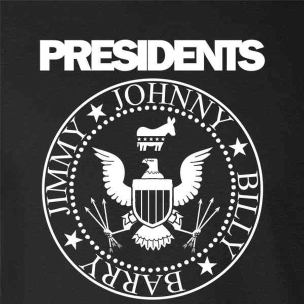Democratic Presidents Rock Band Graphic