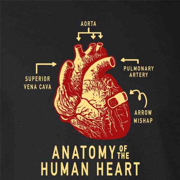 Anatomy of the Human Heart Love Funny Arrow Cupid
