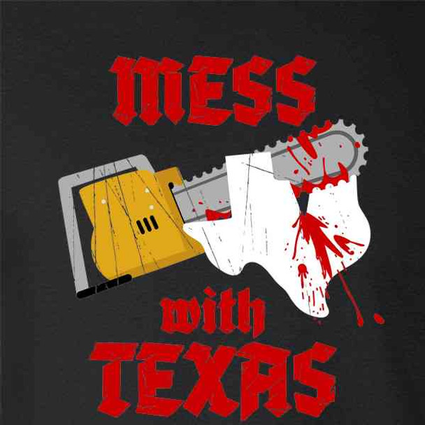 Mess With Texas Horror Chainsaw Movie Littering Parody