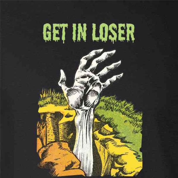 Get In Loser Zombie Graveyard Funny Halloween