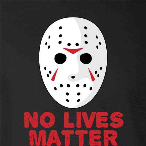 No Lives Matter Hockey Mask Horror Movie Costume