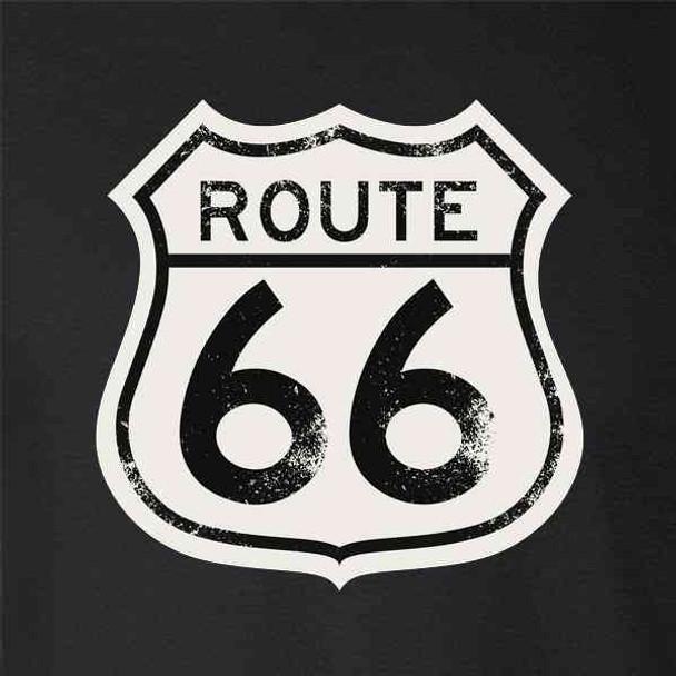 Route 66 Sign Retro Vintage Black and White