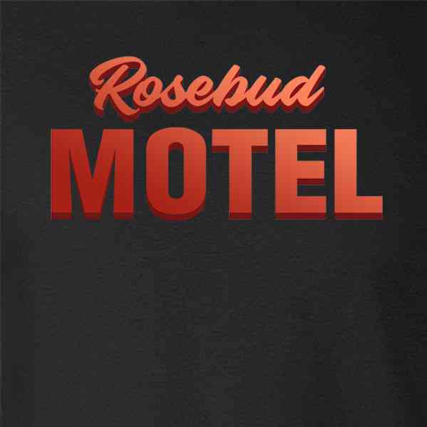 Rosebud Motel Logo Retro Funny Rose Family