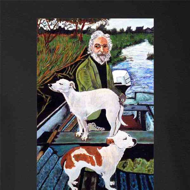 Man in Boat With Dogs Painting Movie Gangsters