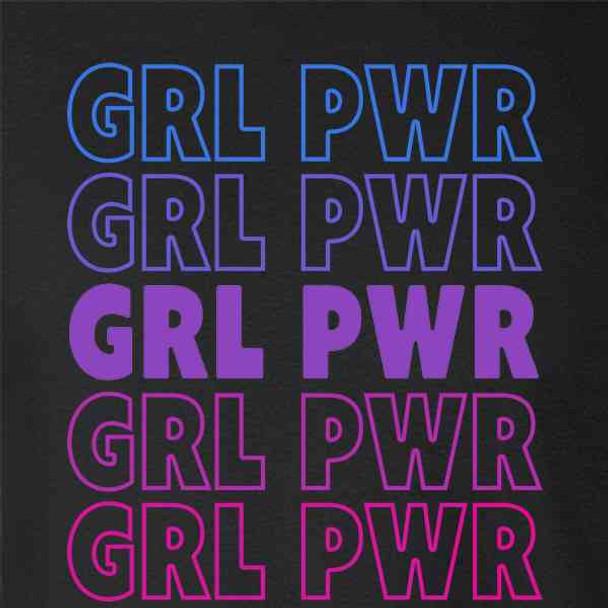 Grl Pwr Girl Power Retro Repeating Feminist