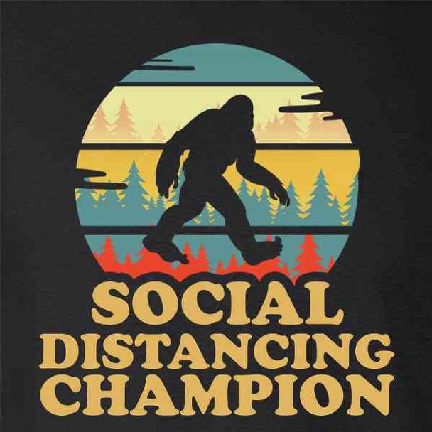 Bigfoot Social Distancing Champion Funny Sasquatch