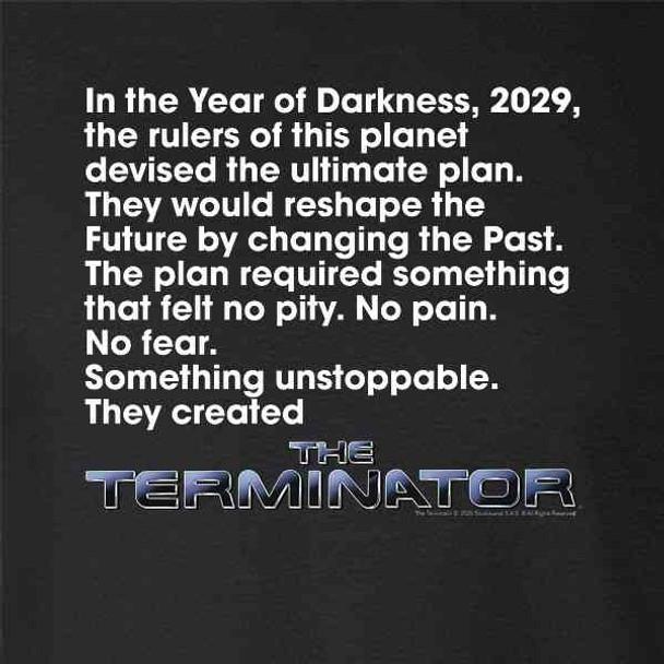 The Terminator Movie Tagline Retro Classic SciFi
