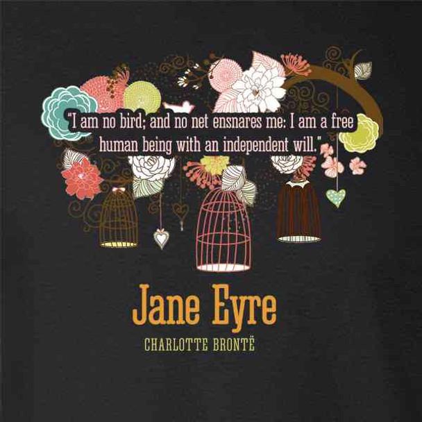 Jane Eyre Charlotte Bronte Book Cover Art Quote