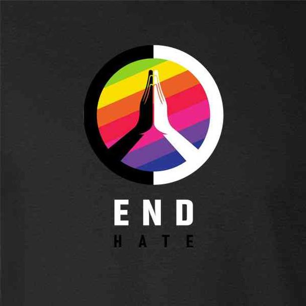 End Hate Rainbow Logo Equality LGBTQIA Pride Unity