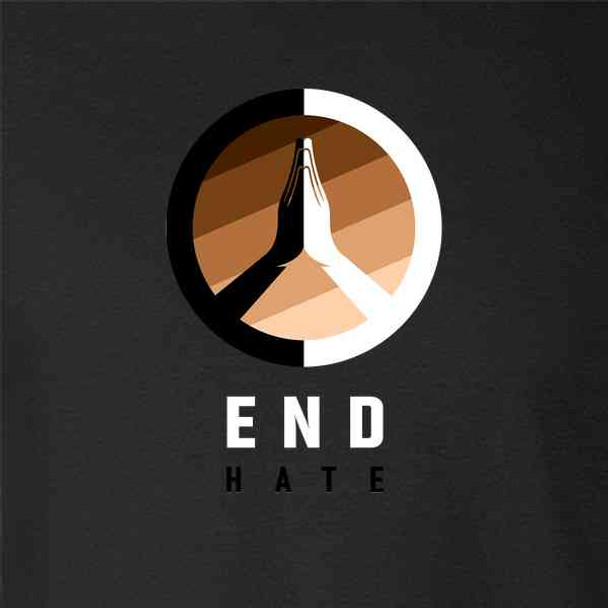 End Hate Skin Tones Logo BLM Racial Equality Unity