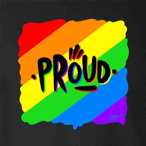 Proud Jason Naylor Rainbow LGBTQIA Pride Art
