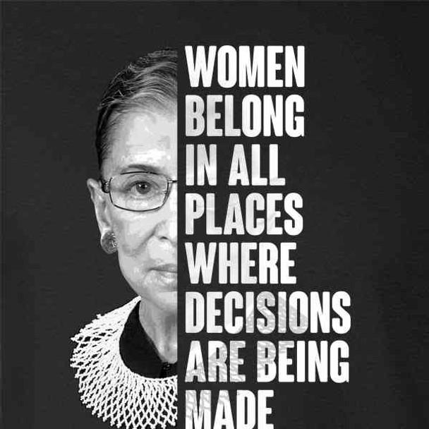 Ruth Bader Ginsburg Women Belong Quote Feminist