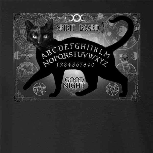 Black Cat Spirit Board Spooky Goth Retro