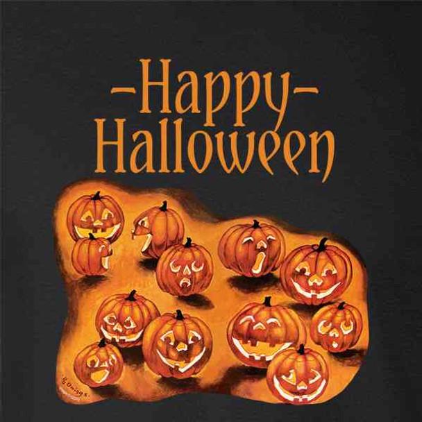 Happy Halloween Pumpkin Patch Vintage Retro