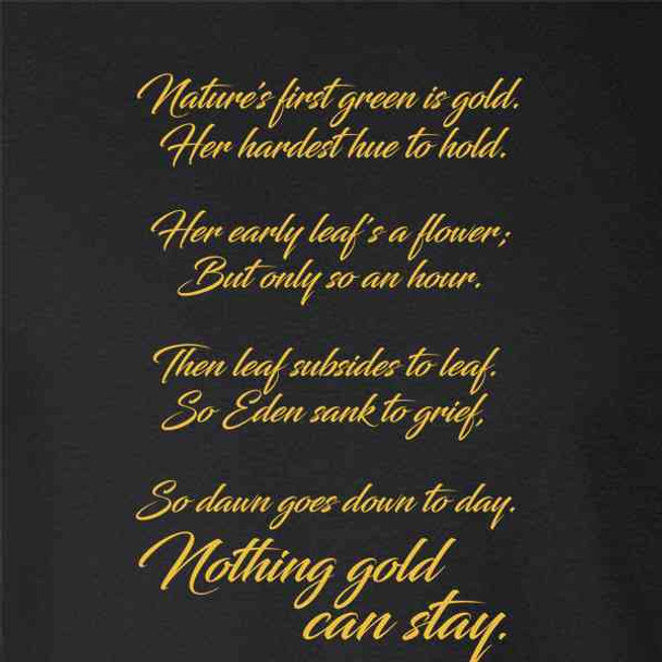 Nothing Gold Can Stay Robert Frost Poem