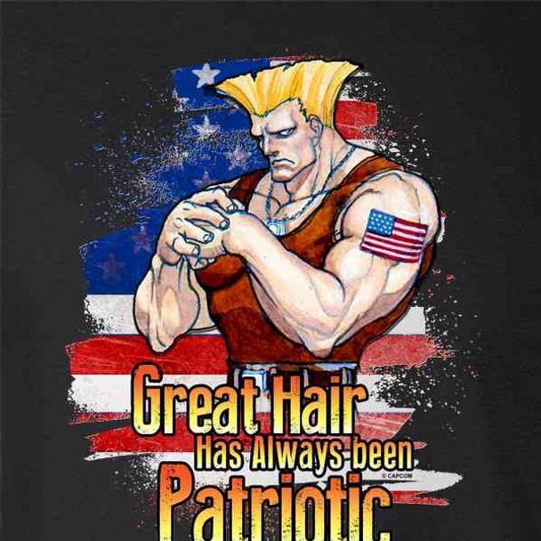 Street Fighter Guile Great Hair is Patriotic Funny