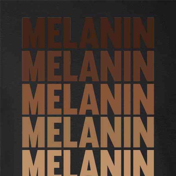 Melanin Repeating Text Black History Pride BHM