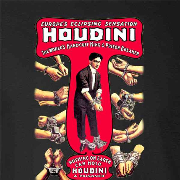 Harry Houdini Handcuff King Magic Poster Vintage