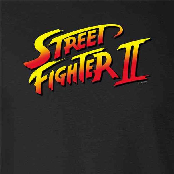 Street Fighter 2 Logo Retro Video Gamer Arcade 90s