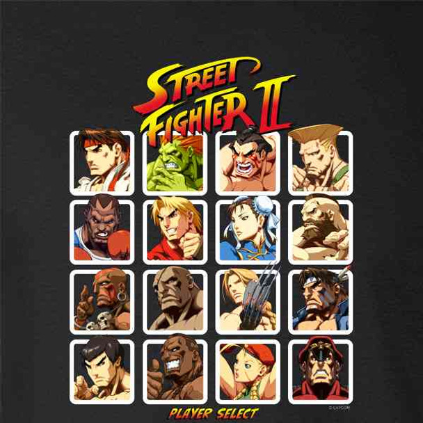 Street Fighter 2 Player Select Video Gamer 90s