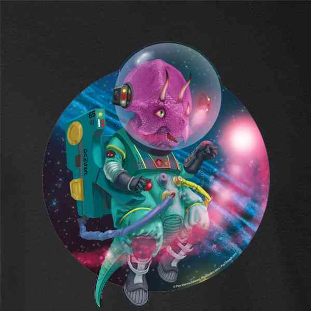 Triceratops Dinosaurs In Space Funny Cute