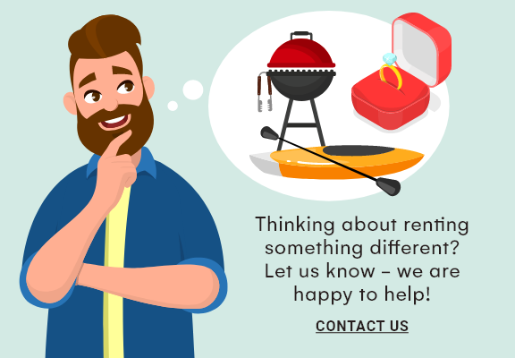 Contact us to rent something different.