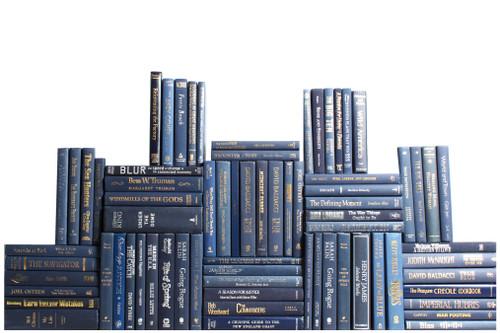 Modern Navy Book Wall, S/75