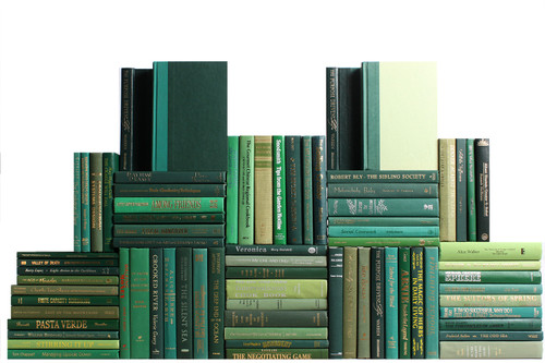 Modern Boxwood Book Wall, S/75