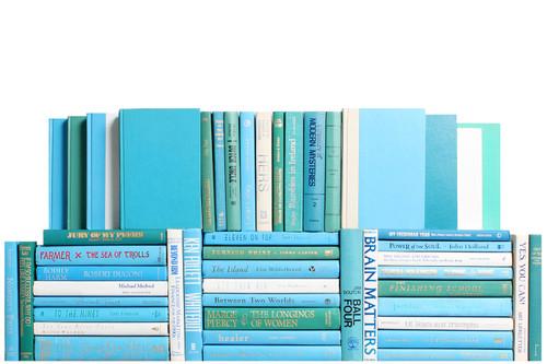 Modern Ocean Book Wall, S/50