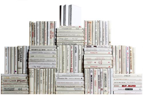Modern Snowfall Book Wall, S/100