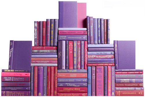 Modern Berry Book Wall, S/75