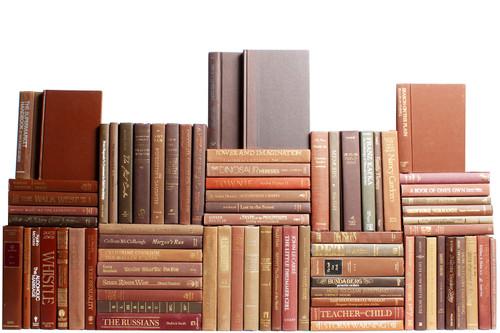 Modern Chocolate Book Wall, S/75