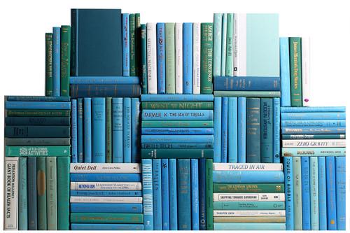 Modern Ocean Book Wall, S/100