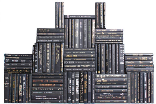 Modern Onyx Book Wall, S/100