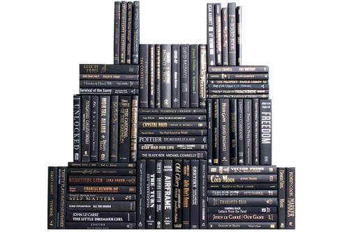 Modern Onyx Book Wall, S/75