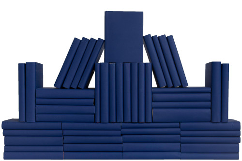 True Blue Wrapped Book Wall, S/50