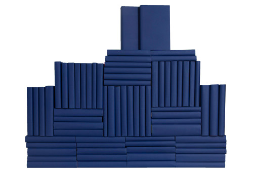True Blue Wrapped Book Wall, S/75