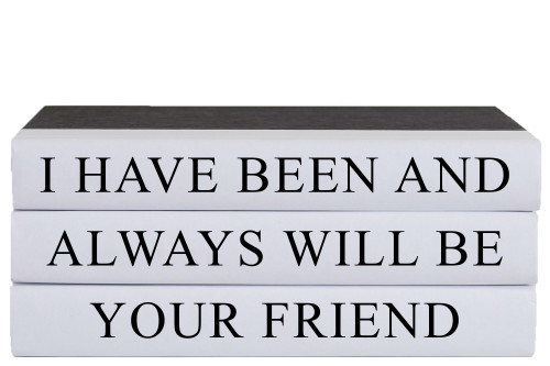 Always Your Friend Quote Book Stack, S/3