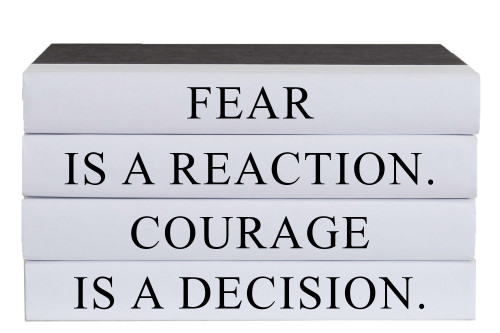 Courage Is A Decision Quote Book Stack, S/4