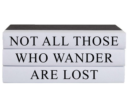 Not All Those Who Wander Quote Book Stack, S/3
